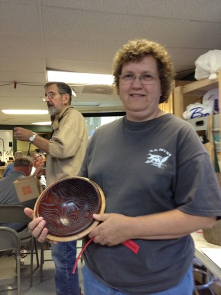 Rick Bryant made the perpetual turning won by Joan Lech