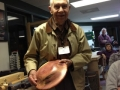 Elwood Borger - with a sold bowl.  He can turn other than segmented work!