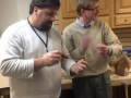 Blair Wagner receives a scratch awl made by Greg Schultze
