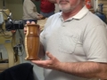 Dave Paine wood vase mahogany and curly maple